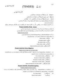 72 Conclusive English Tenses Chart In Urdu Pdf
