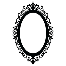 Wall Mirrors Contessa Beveled Oval Mirror Frame In Vintage Cherry