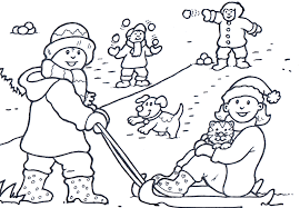 Small Picture Winter Coloring Page Happiness Winter Coloring pages of