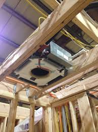 mini split cassette. Brilliant Cassette The Ceiling Mounted Mitsubishi Minisplit Roughed Into First Floor Ceiling  No Ducts To Worry About Just Freon Lines Inside Mini Split Cassette