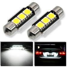 Installing Led License Plate Lights Details About Audi B5 A4 S4 Error Free License Plate Lights Led Festoon 36mm Bulbs Pair