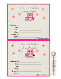 Free Printable Baby Shower Invitations For Girls Free Printable Woodland Baby Shower Party Invitations