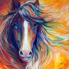 m baldwin original oil painting wild horse mustang abstract by marcia baldwin