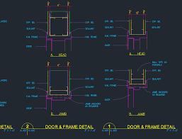 remarkable door details door head jamb frame details cad files dwg files plans and
