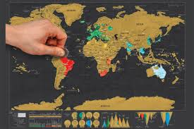 globetrotter scratch off world map – explore and snap