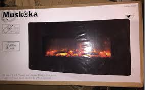 muskoka 35 curved wall mount electric fireplace heater