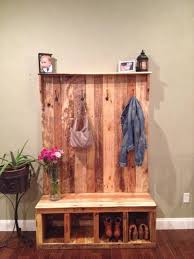 Pallet Coat Rack Bench