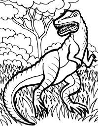 free trex coloring pages