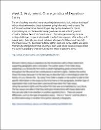 expository essay characteristics characteristics of expository essays written narrative essay