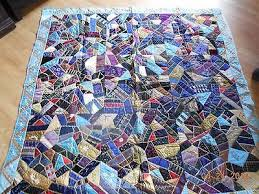 52 best Tie Quilts images on Pinterest | Easy quilts, Quilt ... & Vintage Finished Quilt - Crazy quilt made from mens ties. Adamdwight.com