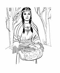 Indian Girl Coloring Pages Printable Coloringstar