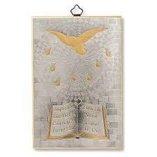 holy spirit woodcut memory of the confirmation diploma  holy spirit woodcut memory of the confirmation diploma italian