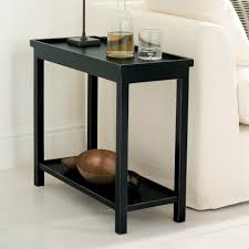 Wooden Side Table Coffee Table Jet Rubbed Black Narrow Wooden Side Table Oka Thin