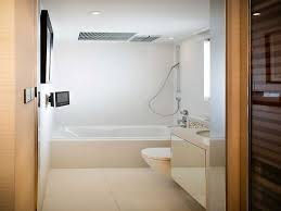 small soaking bathtubs for small bathrooms. Contemporary White Small Bathroom Design With Rectangle F Gloss Acrylic Soaking Tub Near Floating Toilet And Sink As Well Cream C Bathtubs For Bathrooms