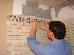 Part Tiled Bathrooms How To Install Tile In A Bathroom Shower How Tos Diy