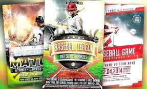 Baseball Brochure Template Softball Tournament Flyer Template Tellers Me