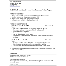 Bank Teller Resume Template Retail Resume Objective Examples