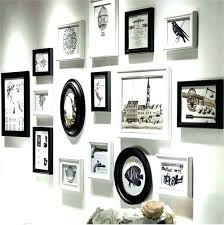black gallery frame set perfect hang your own 9 piece walnut 7 wall picture reviews