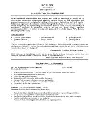 Construction Superintendent Resume Templates Impressive Construction Superintendent Resume Sample Compliant 48 Examples For