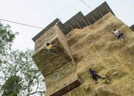on artificial rock climbing wall in pune with raje shivaji artificial rock climbing wall