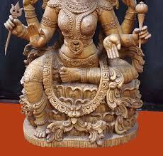 antique indian ess antique satin wood dess lakshmi figure antique wooden carved lakshmi devi