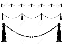 fence drawing. Drawing A Metal Fence. Chain On Posts Stock Vector - 5648878 Fence