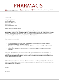 Pharma Cover Letters Pharmacist Cover Letter Sample Free Download Resume Genius