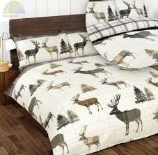 stag rustic bedding set stag duvet cover amp pillowcase quilt cover bedding linen sheets