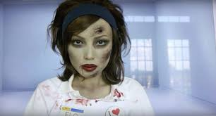 zombie flo from the progressive ads face paint video tutorial by dope 211