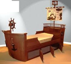 ship bed pirate ship toddler bed with drawers for bedroom themed decoration also storage areas and