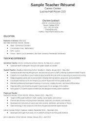 4th Grade Teacher Resume 1st Grade Teacher Resume Samples Curriculum Vitae For Teachers