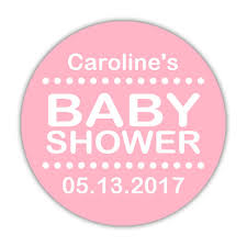 Silhouette Couples Baby Shower  Itu0027s A Girl  Personalized Baby Baby Shower Tags And Labels