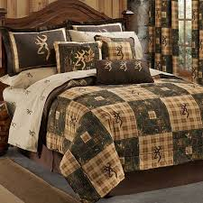 browning country 5 pc twin quilt comforter bedding set lodge log cabin hunting