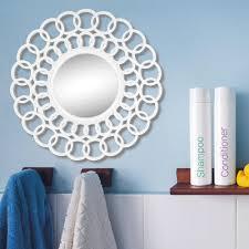 round modern circle design wall mirror