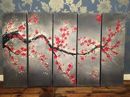 japanese cherry blossom painting art famous paintings japan stock photos acrylic