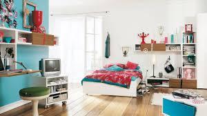 funky teenage bedroom furniture. Bedroom, Mesmerizing Teenage Room Design Ideas Bedroom For Small Rooms Red Blanket With Funky Furniture