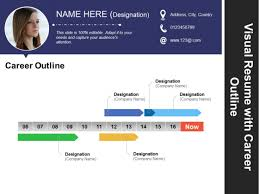Resume In Powerpoint Visual Resume With Career Outline Ppt Powerpoint