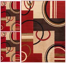 3 Piece Kitchen Rug Sets Kitchen Rug Sets Wheelhouse Modern Abstract Geometric Multi Area