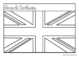 Printable Flag Of Great Britain Coloring Page Jpg 1 650 1 275
