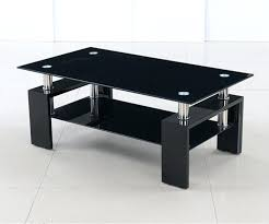 modern black glass coffee tables small table round the description of