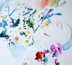 paul riley watercolour study of flowers without gl