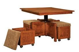 amish carlisle lift top square table and stool set
