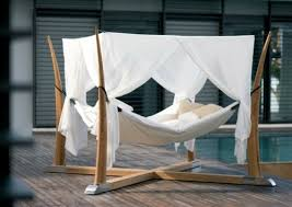 Comfortable hammock in a modern style 50 cool ideas for canopy beds made of  wood in the bedroom