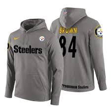 Steelers Logo Pullover Gray Brown Team Pittsburgh Hoodie Antonio|2019 Fantasy Football Mock Draft