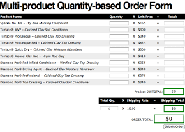 Products Order Form Multi Product Quantity Based Order Form Css Tricks