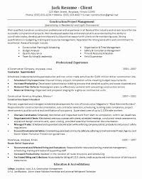 Construction Project Manager Resume Inspiration 5315 Sample Project Manager Resume Doc Best Of Construction Project