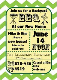 Green Chevron - Housewarming Party Invitations