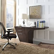 contemporary dark wood office desk. Fine Desk Reno Dark Wood U0026 Stainless Steel Contemporary Office Desk To U