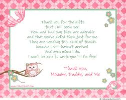 Stylish Pink Thank You Card - Whoo Owl Baby Shower Party