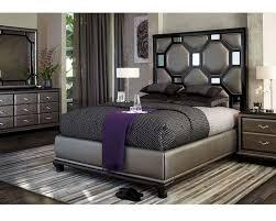 Platform Bedroom Furniture Sets Aico After Eight Bedroom Set In Black Onix Ai 190 Blk